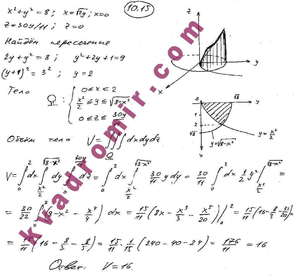 Математике задачнику кузнецов высшей ответы к по